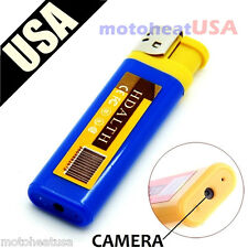 BLUE Mini DV Lighter Hidden Spy Cam Camera Nanny DVR USB Video Recorder  USA