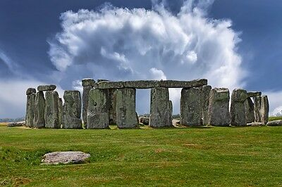 STONEHENGE MONUMENT UK LANDSCAPE POSTER PRINT STYLE B 24x36 HI RES 9MIL PAPER