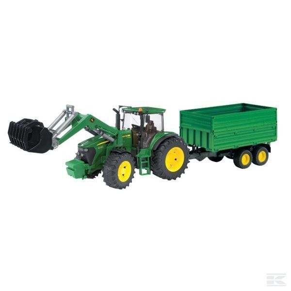 Bruder John Deere 7930 Tractor With Trailer 1 16 Scale Model Age 3+