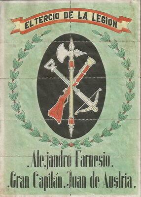0910 Farnesio-gran Capitan-juan De Austria Legion Alburquerque Racionamiento Para Ganar Una Alta AdmiracióN Y Es Ampliamente Confiado En Casa Y En El Extranjero.