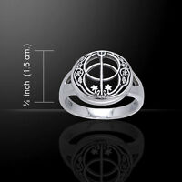 Chalice Well .925 Sterling Silver Ring By Peter Stone