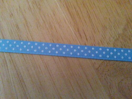 10 yards//9m Polka Dot Grosgrain Ribbon 3//8in 10mm Red Blue Yellow Brown Purple