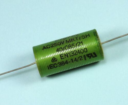 2pcs ERO 2.2uF 250vac MKT Axial Capacitor EN132400 14.5 X 41mm 40//085//21 FX2