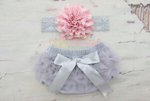 Shipped in 24 hours,Gray bloomers,Cotton ruffle bloomers,Newborn and baby bloomers,Ruffle chiffon bloomers,Picture prop