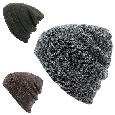 Fedele Slouch Beanie Hat Cap Caldo Inverno Uomo Donna Lavorato A Maglia Sci Unisex-mostra Il Titolo Originale