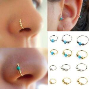 Image Is Loading Hoops Turquoises Ear Cartilage Helix Earring Piercing