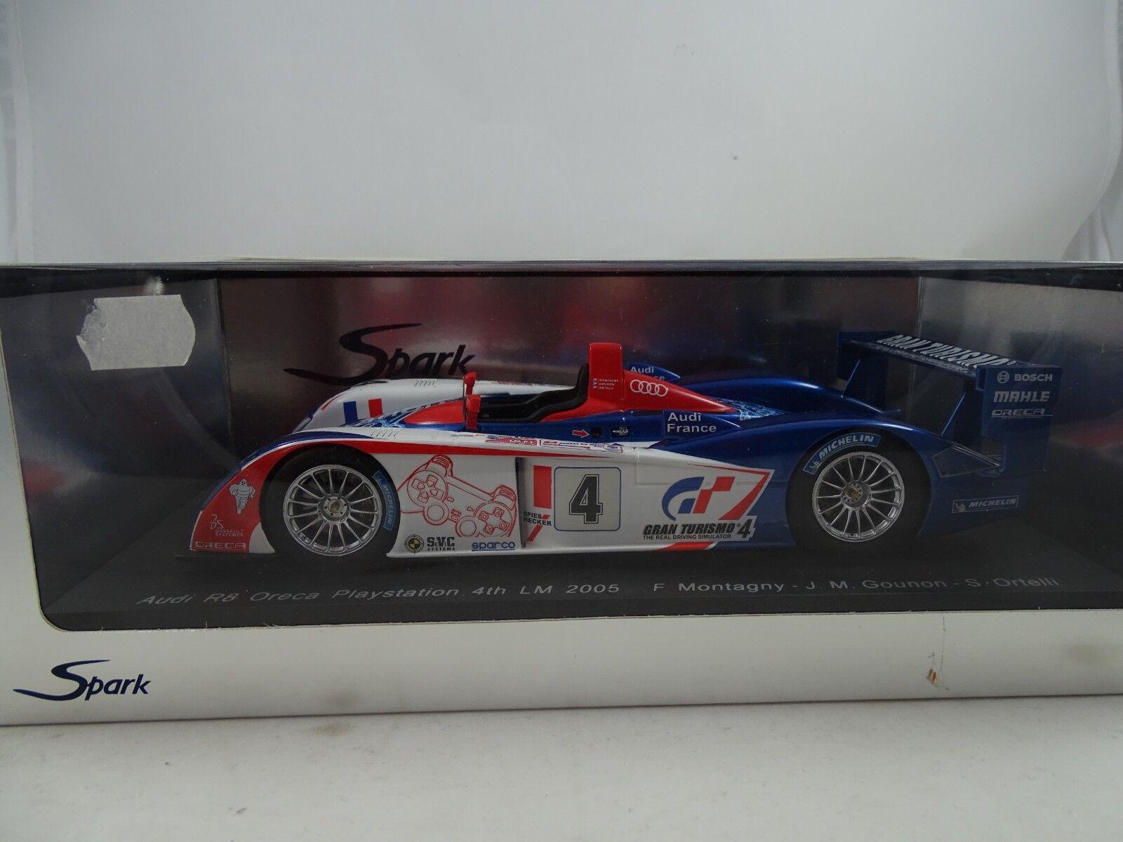 1 18 Spark  S1803 Audi R8 Oreca Playstation 4th Lm 2005 - Rarity §