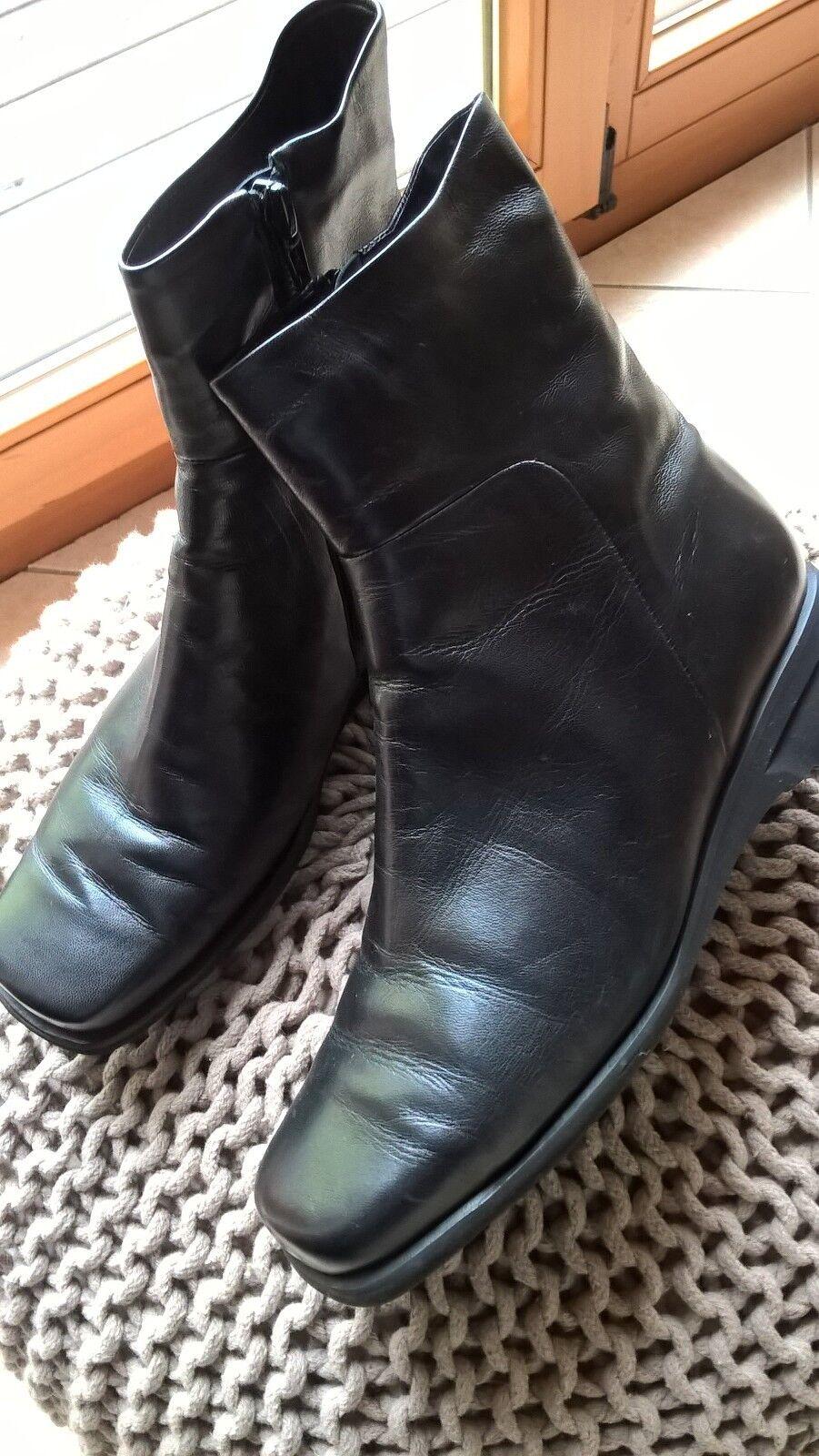 Brunate Stiefeletten schwarz Echtfellfutter Gr. 37 1/2 wenig getragen Echtfellfutter schwarz cc28f6