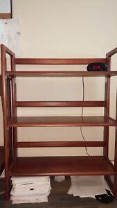 "27"" 3-shelf folding bookcases various shades"