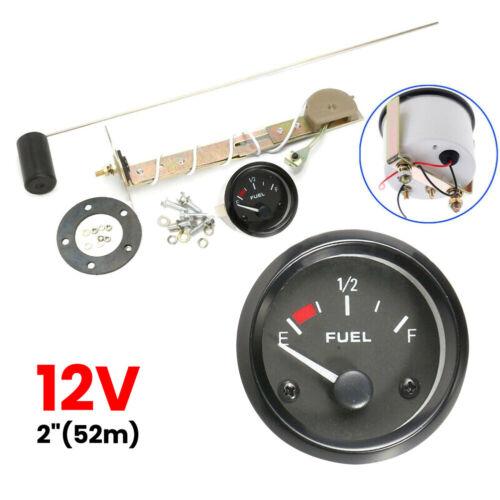2/'/' 52mm Car Fuel Level Gauge Meter with Fuel Sensor E-1//2-F Pointer Indicator