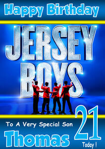 Details About JERSEY BOYS The Musical Personalised Birthday Card ANY NAME ETC