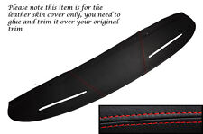 RED STITCHING TOP DASH DASHBOARD LEATHER SKIN COVER FITS MG MGB GT
