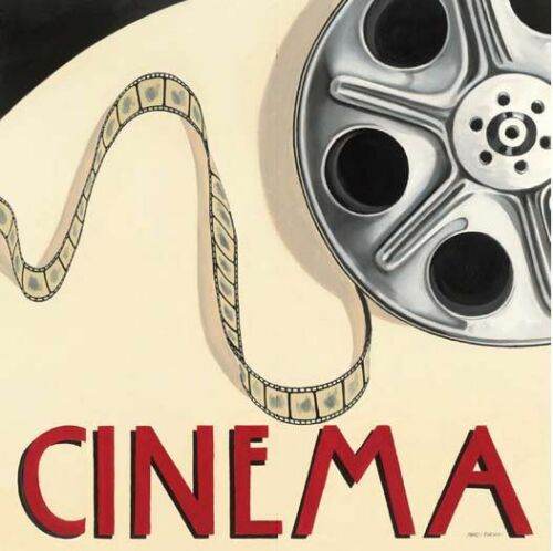 Cinema Keilrahmen-Bild Leinwand Film Kino Marco Fabiano