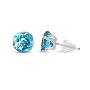 Round-Genuine-Sky-Blue-Topaz-10K-White-Gold-Stud-Earrings-Choose-Your-Size