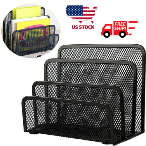 Details about  /3-Mesh CompartmentDesk with Mail Organizer File Holder Letter Sorter  for Office