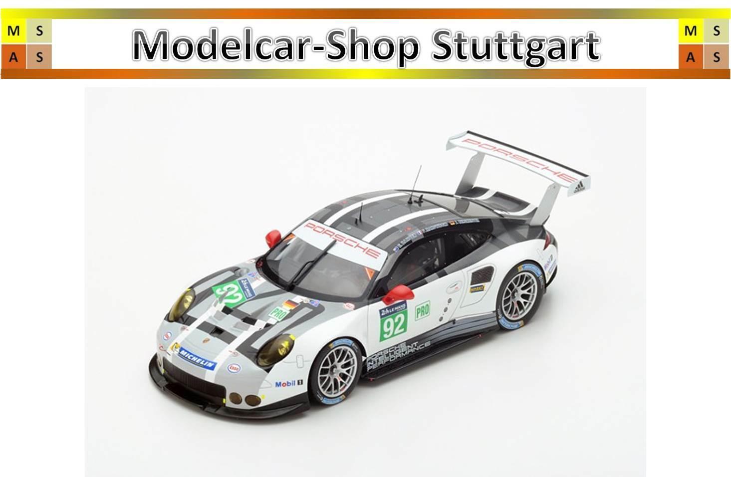 Porsche 911 Rsr le Mans 2015 - Spark 1 43 - Map02087715 - Brand New