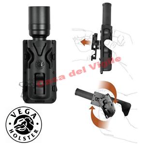 Vega-Holster-Porta-Torcia-Rotativo-8VP63-Nero-Verde-Desert-TAN-per-torcia-da-3-3
