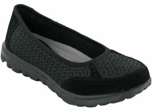 Boulevard Pumps Flat Work Memory Foam Black Lightweight Slip On Womens Shoes