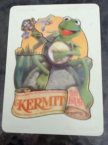Vintage-Fisher-Price-Muppets-Kermit-The-Frog-Wood-Puzzle-541-Plastic-Tray-RARE