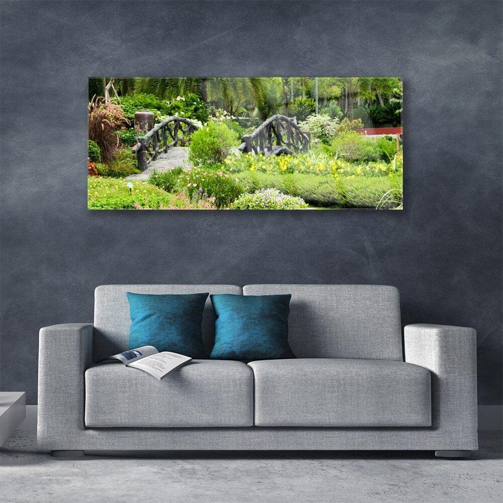 Impression sur verre acrylique Image tableau 125x50 Nature Pont Pont Nature Jardin Botanique b4d28d