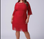 Lane-Bryant-Scallop-Edge-Lace-Fit-Flare-Dress-Plus-14-16-18-22-24-Red-1x-2x-3x thumbnail 1