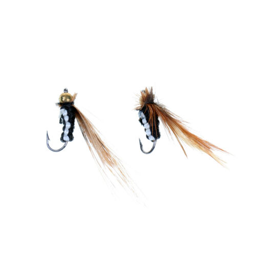 Fishing Tackle Set Kit 40 Piece Dry Flies Trout Fly Fishing Lures with Boxes