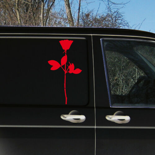 Rose 50cm Aufkleber Tattoo Deko Folie Wandtattoo Autoaufkleber Auto Depeche Mode