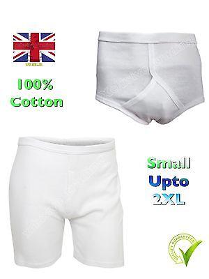 1 Mens Y Fronts 100/% Cotton Airtex Mesh Briefs Underwear S M L XL XXL White