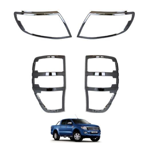 Ford Ranger T6 Raptor 2012-2015 Chrome Avant /& feu Arrière Cover Trims