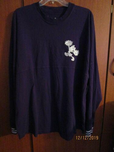Disney World NEW Spirit Jersey Women Small Purple Cheer Minnie Bust 46 Lengt 29