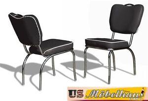 co-26-Negro-Bel-Air-Muebles-2-Sillas-DINER-kuchenmobel-en-estilo-de-1950-Anos