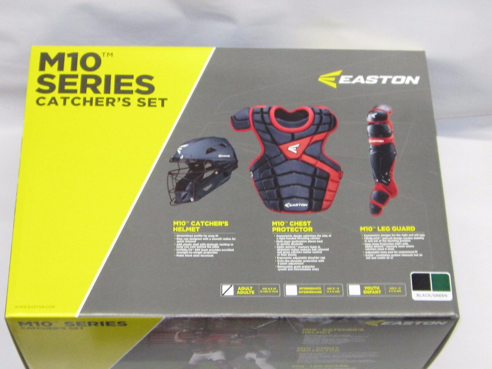 Easton M10 Series Catcher Set de la edad adulta 15 + 8036269 negro verde