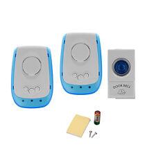 New Digital Wireless Door Bell 1 Remote Control +2 Wireless Receiver Doorbell