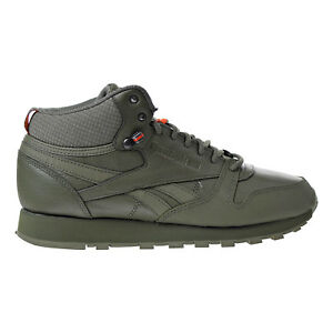 Reebok Classic Leather Mid TWD Men s Shoes Hunter Green  Stone Grey ... de8839a96