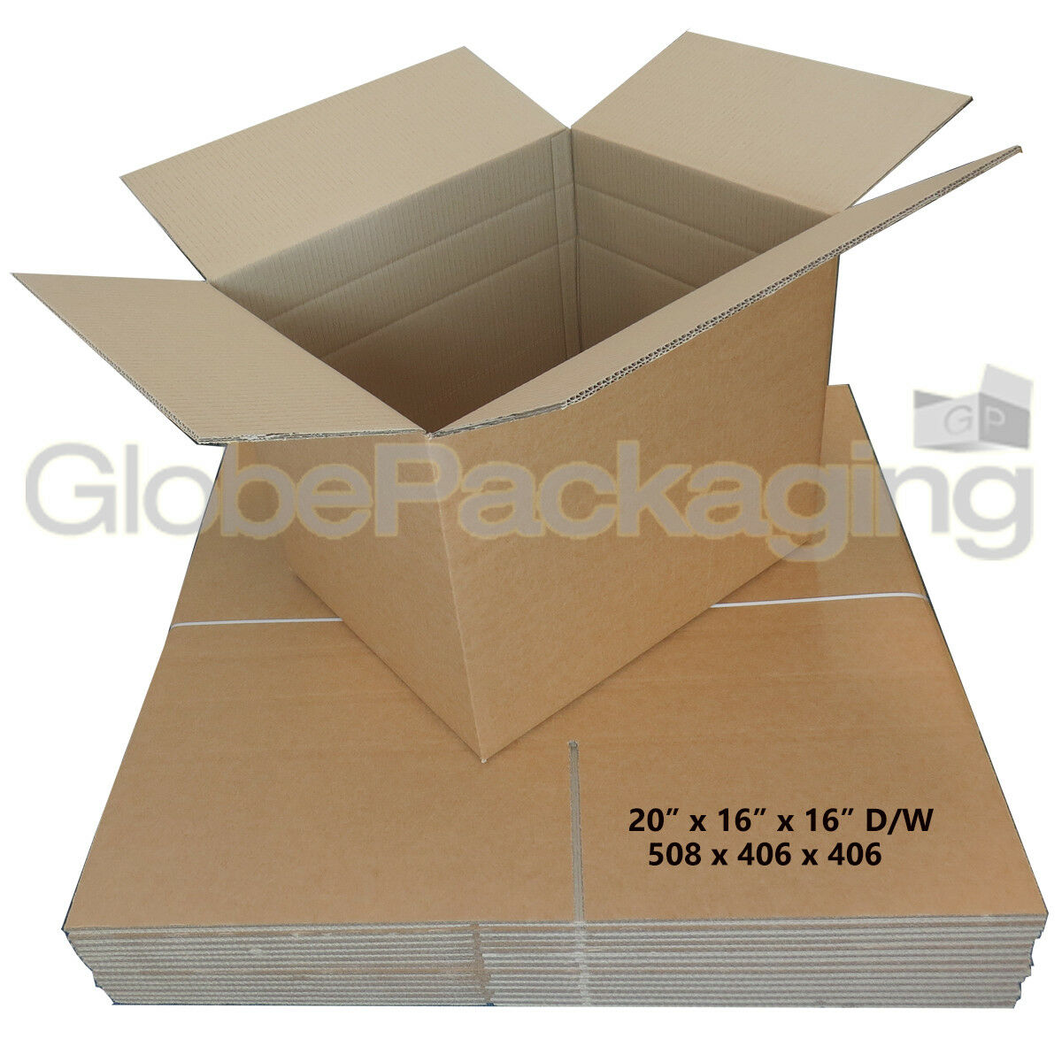 90 x LARGE DOUBLE WALL MOVING SHIPPING BOXES 20x16x16