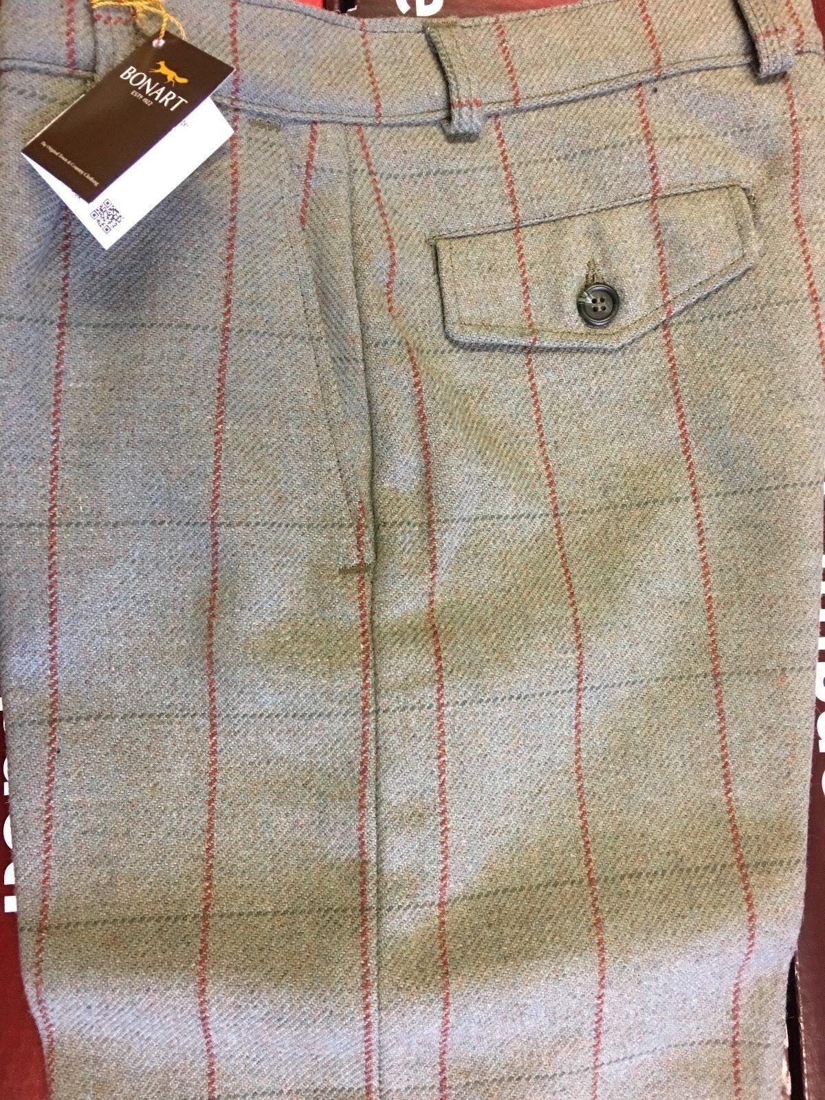 Mens 100% Wool Tweed Plus Two's Lined Hunting Shooting Breeks