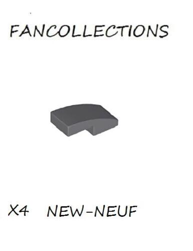 11477 NEUF Dark Bluish Gray Slope LEGO x 4 Curved 2x1 No Studs