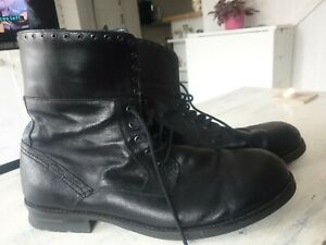 6b59e93e4c7 Details about Guess Men's Boots Leather Casual Lace Up Shoes 47 Size 14