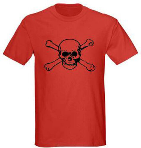 Skull and Bones 2 Pirate Adult Graphic Tee T-shirt Size S 5XL Red