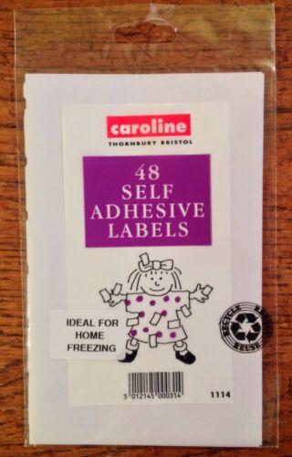 maison gel 5 cm x 2,5 cm Étiquettes autocollantes pour le stockage d/'aliments x 48 étiquettes