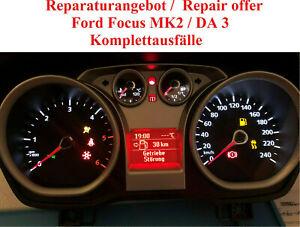 Ford Focus MK2 Tachoreparatur Kombiinstrument Komplettausfall Div. Fehler