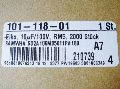 10uf 100v 85 ° C Elko SAMWHA Giappone #2 e 13/%