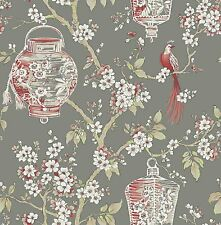 YOUNG @ HOME BEIGE OWLS OWL BIRDS TREES CHILDRENS FEATURE WALLPAPER YH17922