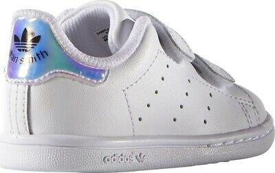 Scarpe sportive bambina ADIDAS Stan Smith TD strappo pelle bianco argento AQ6274   eBay