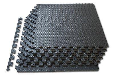 Mats 32 SQ FT Interlocking EVA Soft Foam Exercise Floor Play Area Multicoloured