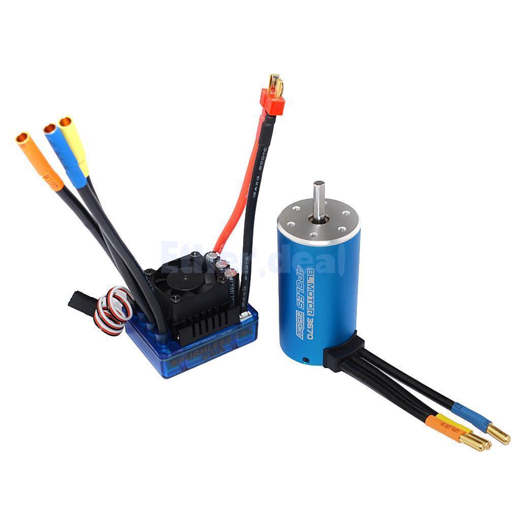 Tenuta d'acqua motore brushless 2150kv e 80a ESC per Combo RC 1/8 1/10 auto