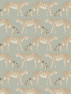 Cole-amp-Son-Leopardo-Walk-Carta-da-parati-109-2009-OLIVE-amp-White