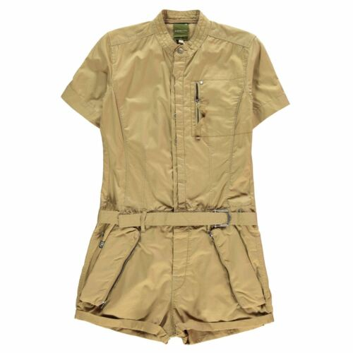 G Star Womens Legion Short Playsuit Jumpsuit Sleeve Lightweight Zip Print Block