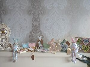 Easter gifts shabby chic hanging easter decorations rabbits hearts image is loading easter gifts shabby chic hanging easter decorations rabbits negle Image collections