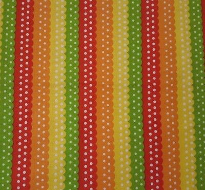 On The Road BTY Studio 8 Quilting Treasures Ribbon Stripe Yellow Orange Red